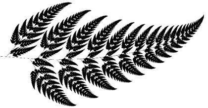Farnblatt fraktaler Aufbau